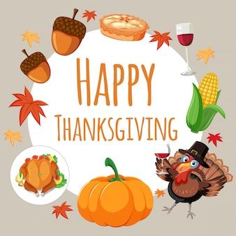 Happy thanksgiving-karte-konzept