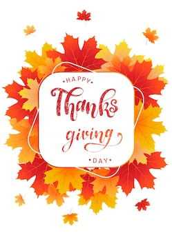 Happy thanksgiving-karte und poster-design