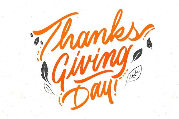 Happy thanksgiving-konzept mit schriftzug