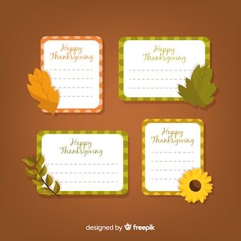 Happy thanksgiving-label-sammlung