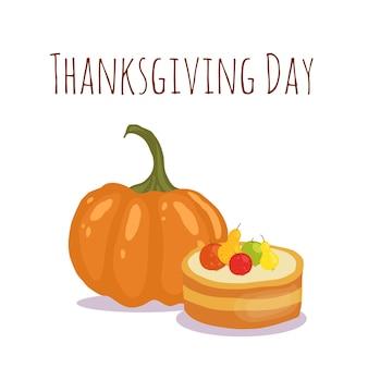 Happy thanksgiving's day kartenentwurf