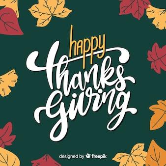 Happy thanksgiving-schriftzug