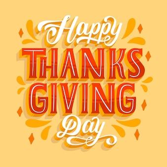 Happy thanksgiving schriftzug