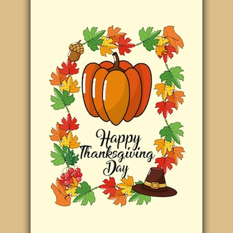 Happy thanksgiving tag design