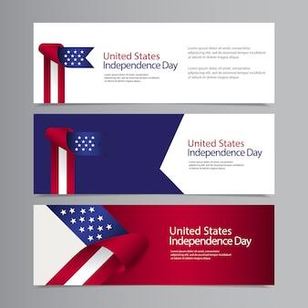 Happy united states independence day feier vorlage design illustration
