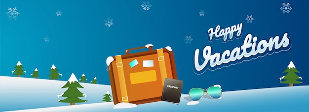 Happy vacations-header oder banner-design