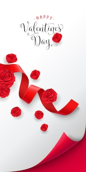 Happy valentine day-schriftzug