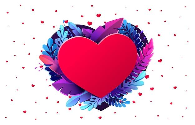 Happy valentines day gruß design illustration
