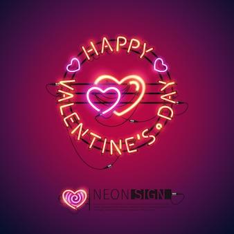 Happy valentines day leuchtreklame