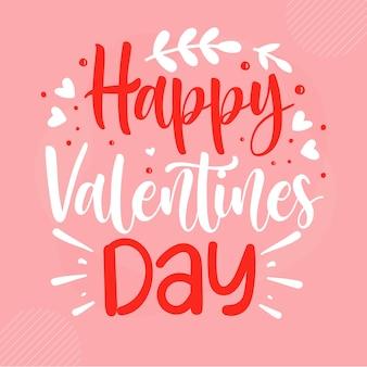 Happy valentines day schriftzug valentin premium vektor design