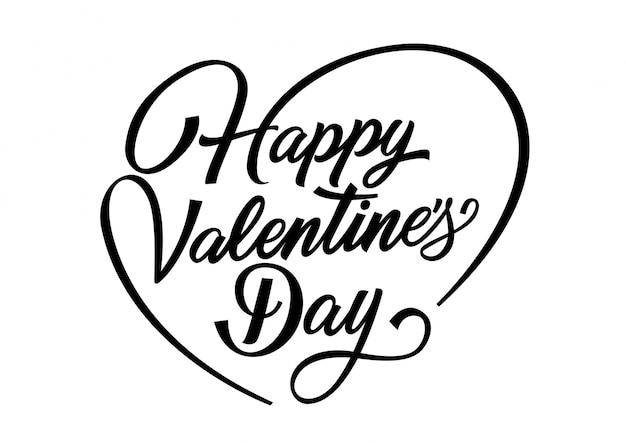Happy valentines day schriftzug