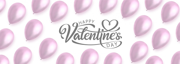Happy valentinstag banner vorlage.