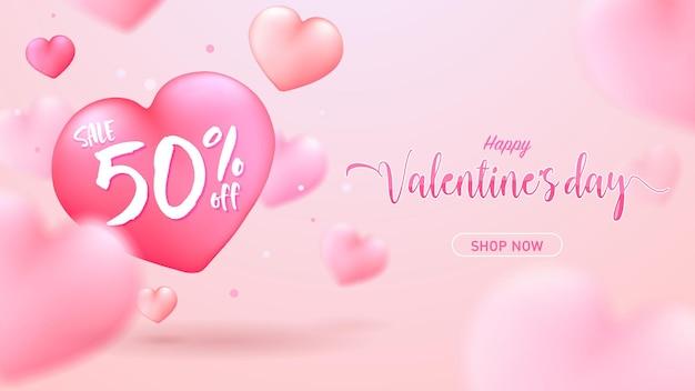 Happy valentinstag banner zum verkauf