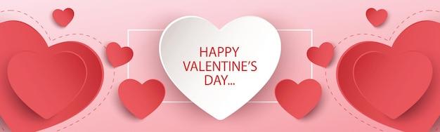 Happy valentinstag banner