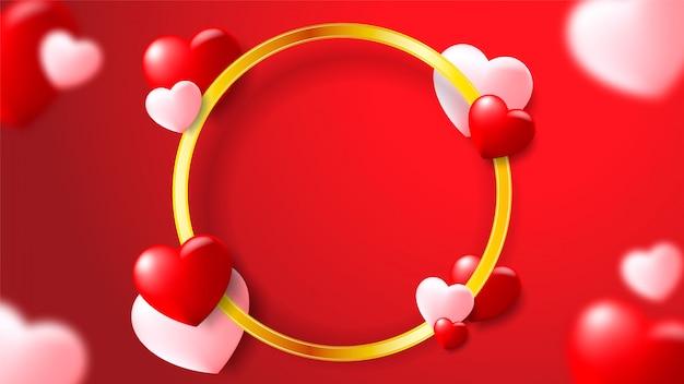 Happy valentinstag design in einem romantischen hintergrund