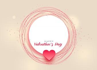 Happy Valentinstag Design mit Textraum