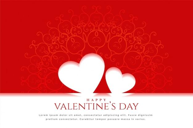 Happy valentinstag feier grußkarte