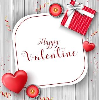 Happy valentinstag grussbanner