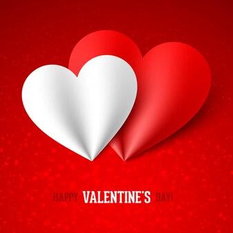 Happy valentinstag grußkarte design-element