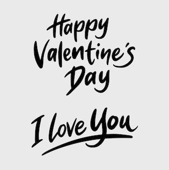 Happy valentinstag handschrift kalligraphie