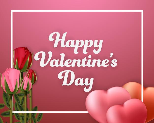 Happy valentinstag hintergrund banner