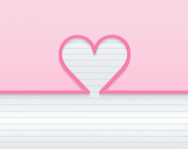Happy valentinstag hintergrund. design mit herz. . rosa hintergrund. .