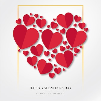 Happy valentinstag hintergrund mit herzen