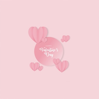 Happy valentinstag hintergrunddesign