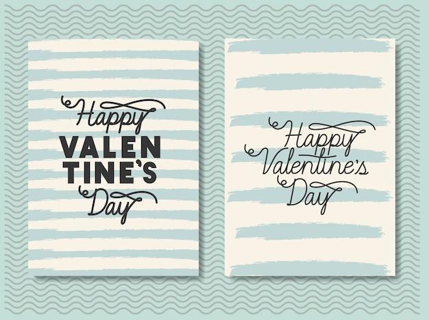 Happy valentinstag karten gesetzt