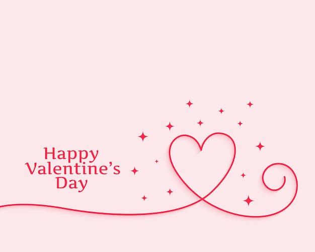 Happy valentinstag kreative linie herz
