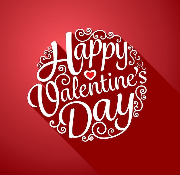 Happy valentinstag kreis schriftzug grußkarte