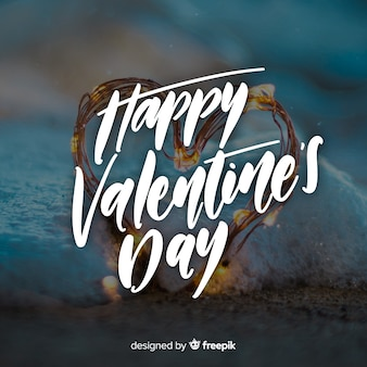 Happy valentinstag-schriftzug