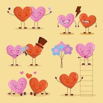 Happy valentinstag-set