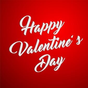 Happy valentinstag typografie