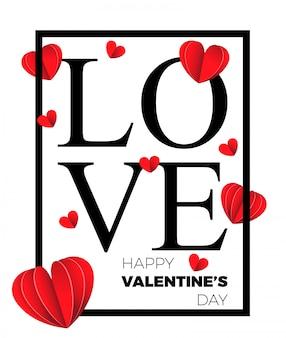 Happy valentinstag und jäten design-elemente