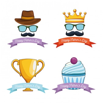 Happy vatertag embleme