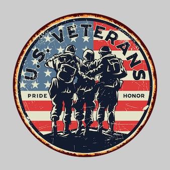 Happy veterans day poster design