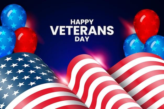 Happy veterans day premium-hintergrund