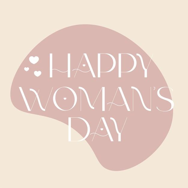 Happy woman day handgezeichnete schriftzug moderne schrift für kartenplakate einladung