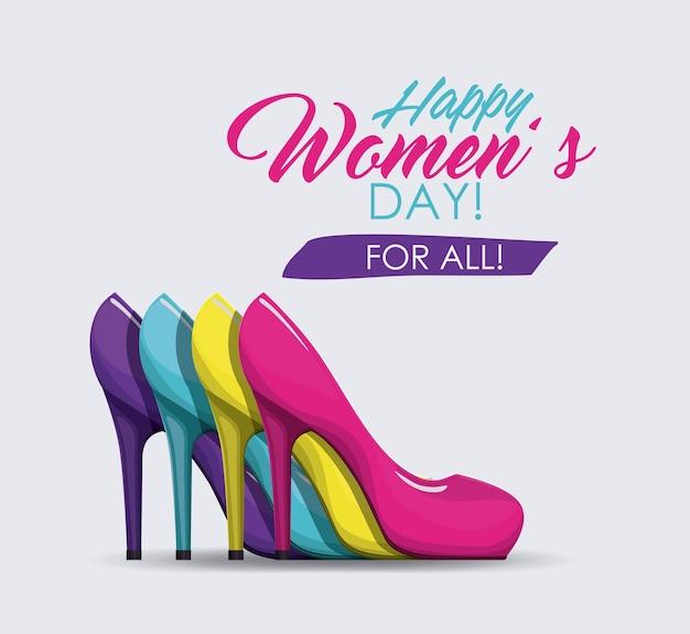 Happy womens tag design