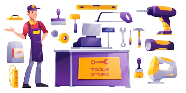Hardware bauwerkstatt ausrüstung