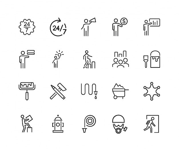 Hardwork-icon-set