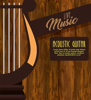 Harfe musikinstrument label