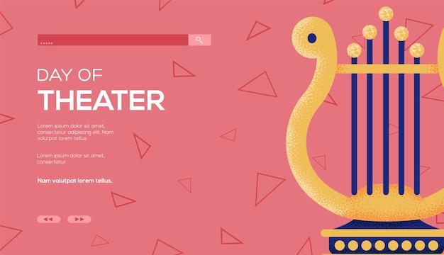 Harfenkonzept-flyer, web-banner, ui-header, site eingeben.