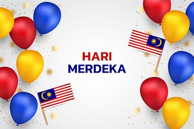 Hari-merdeka-illustration mit farbverlauf