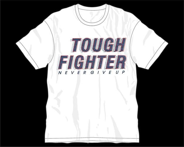 Harter kämpfer motivierend inspirierend zitat typografie t-shirt design grafik vektor