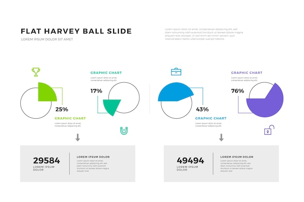 Harvey ball diagramme infografik