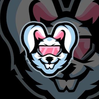 Hasen-gaming-maskottchen-logo-vorlagen