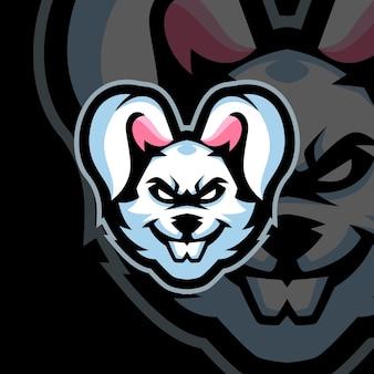 Hasen-maskottchen-logo-vorlagen