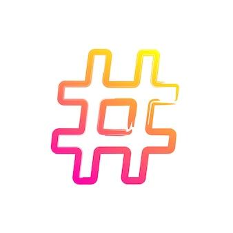 Hashtag für soziales netzwerk oder internet